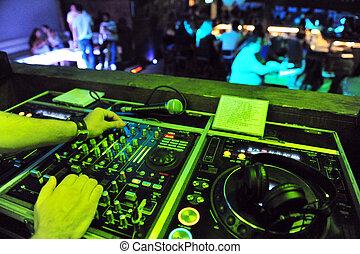vida, -, clubbing, noturna