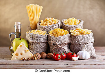 vida, com, tradicional, alimento, ingredientes