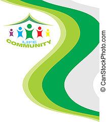 vida, comunidade, cartão