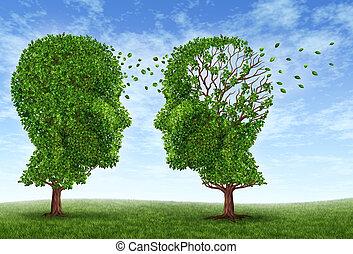 vida, con, alzheimers