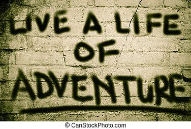 vida, conceito, viver, aventura