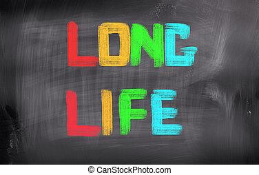 vida, concepto, largo
