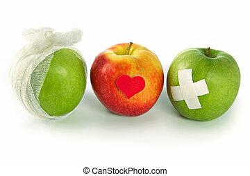 vida, concepto, sano, salud, manera, servicios, público