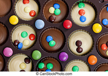 vida, de, chocolate, com, smarties
