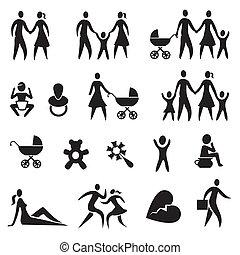 vida de familia, iconos