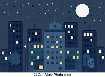 vida de la ciudad, concepto