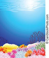 vida de mar, plano de fondo