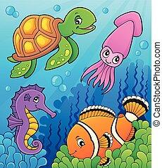 vida de mar, tema, imagen, 3