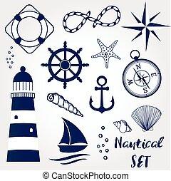 vida, elementos, rueda, concha marina, coral, starfihh,...
