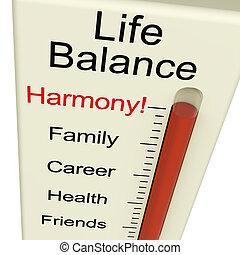 vida, equilíbrio, harmonia, medidor, mostra, estilo vida, e,...