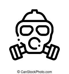 vida, gaz, magra, cofre, máscara, ar, vetorial, sujo, linha,...
