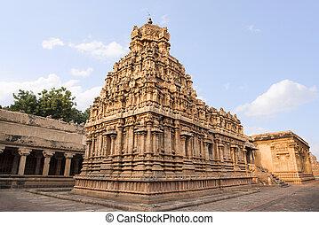 vida, grande, unesco, nadu, chola, india, sitio, thanjavur, templos, brihadishvara, herencia, conocido, mundo, tamil, templo