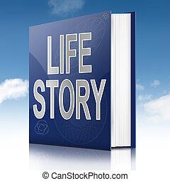 vida, historia, concept.