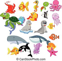 vida, jogo, mar, caricatura, cobrança