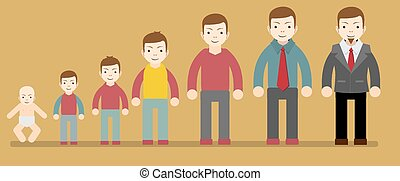 vida, joven, edad, hombre, envejecimiento, humano