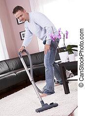 vida, limpieza, cleaner., habitación, vacío