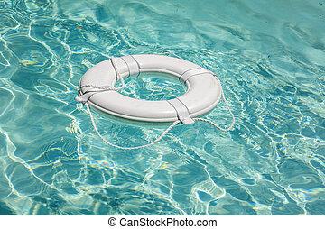vida, natación, salvador, piscina, boya