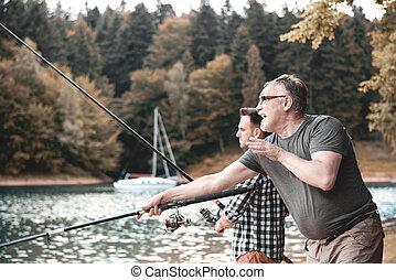 vida, pesca, maneira