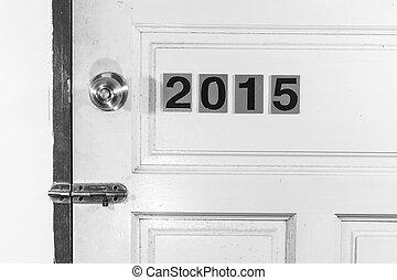 vida, porta, antigas, 2014, 2015, novo, abertos