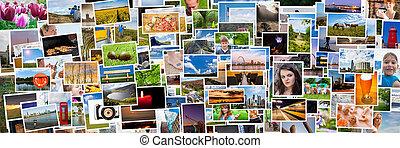 vida, relação, pessoas, colagem, 3x1, imagens