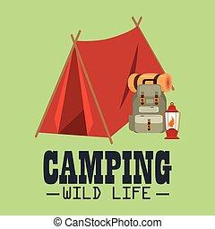vida salvaje, acampar tienda