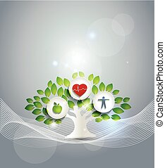 vida sana, símbolo