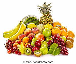 vida, sano, fruta tropical, fresco, todavía