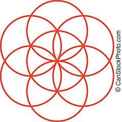 vida, semente, símbolo