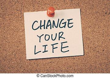 vida, su, cambio