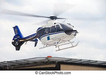 vida, vôo, helecopter