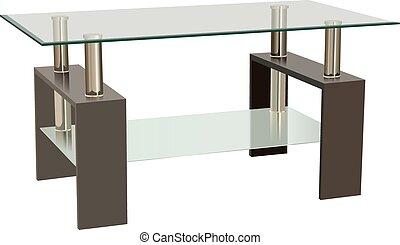 vida, vidrio, habitación, tabla