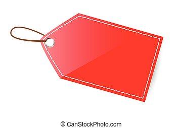 vide, étiquette rouge