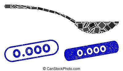 vide, 0.000, collage, coronavirus, cuillère, cachet, grunge, icône