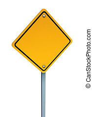 vide, avertissement, signe jaune