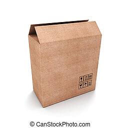 bo te vide ouvert cadeau isol bo te ouvert cadeau. Black Bedroom Furniture Sets. Home Design Ideas