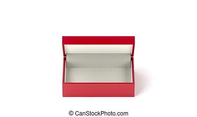 vide, boîte rouge