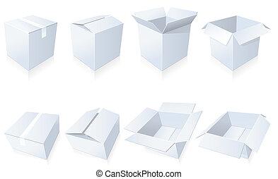 vide, boîtes carton