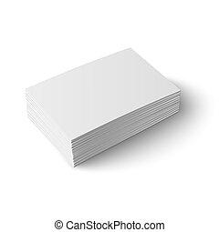 vide, card., business, pile