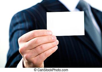 vide, carte, business