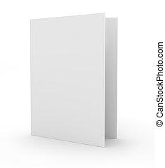 vide, carte, isolé, blanc