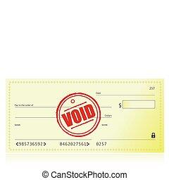 vide, chèque, banque