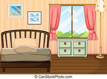 vide, chambre à coucher