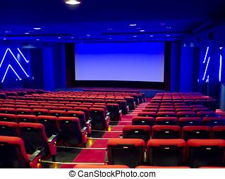 vide, cinéma, auditorium