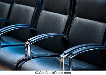 vide, conférence affaires, salle, intérieur