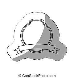 vide, emblème, plaque, icône