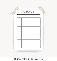 vide, faire liste