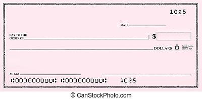 vide, faux, nombres, chèque