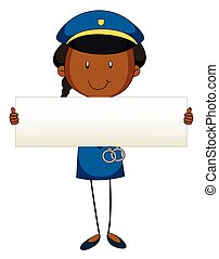 vide, gendarme, tenue, signe