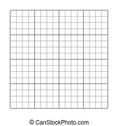 vide, graphique, 4x4, grid., puzzle, vecteur, carrée, table., gabarit, cellule, illustration