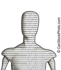vide, homme, binaire